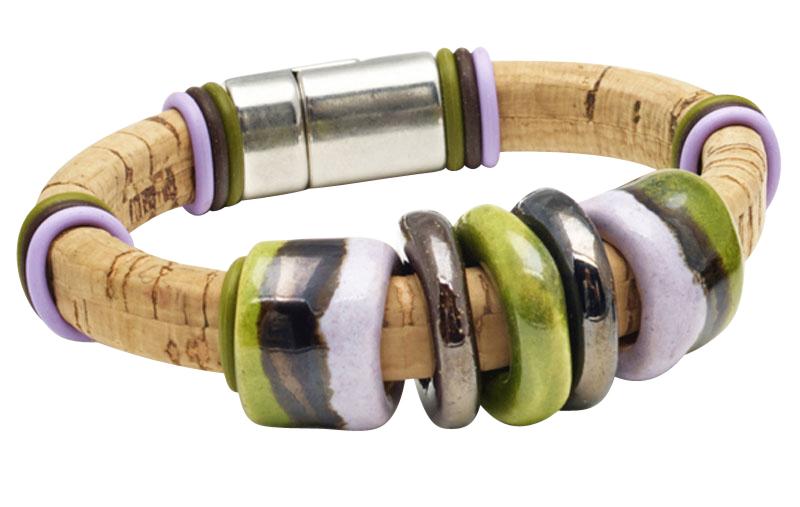 United Nations 1 Kazuri Portuguese Cork Bracelet
