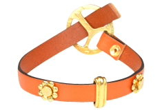 Bracelet Design Ideas bracelet design ideas Orange Burst Leather Bracelet