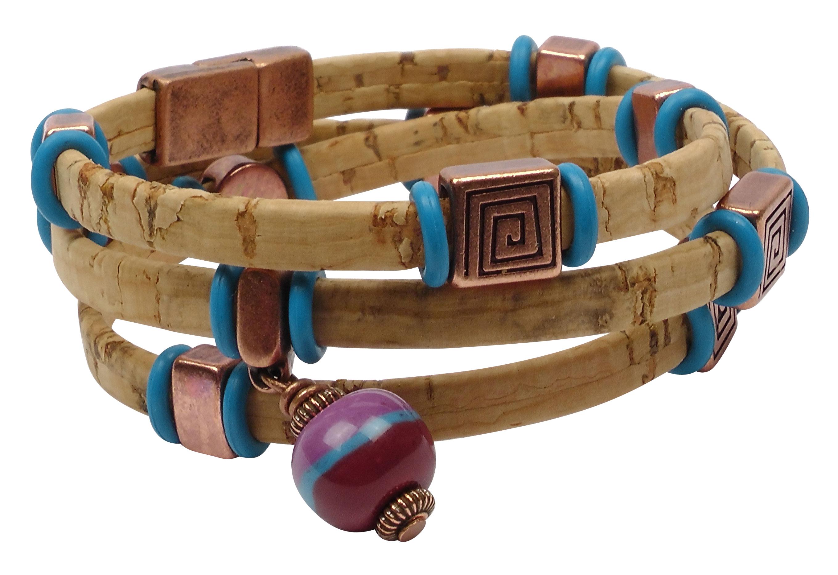 Pop The Top Portuguese Cork Cord Bracelet