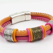 Round Leather Bracelets