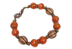 copper beads supplies for make jewelry
