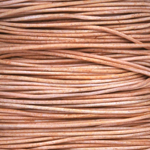 0.5mm Round Leather Cord - Natural