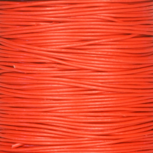 0.5mm Round Leather Cord - Red