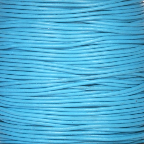 0.5mm Round Leather Cord - Turquoise