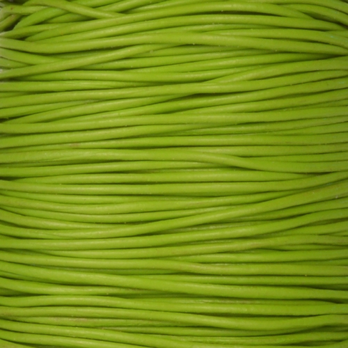 0.5mm Round Leather Cord - Apple Green