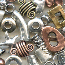 metal spacers for flat leather for jewelry making