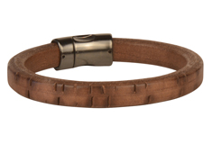 Timber Wolf Regaliz® Leather Bracelet