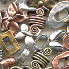 Regaliz metal components for jewelry making