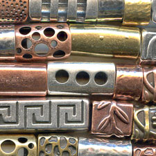 Regaliz metal slides for jewelry making